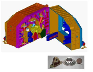 Optical mountings for infrared space telescope